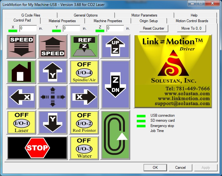 LinkMotion with 'AGNI' USB Micro-Laser Controller for CO2 Laser Machines